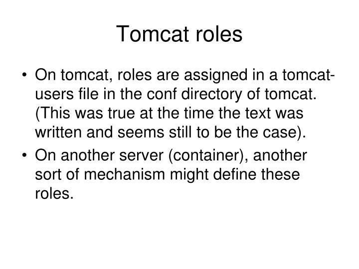Tomcat roles