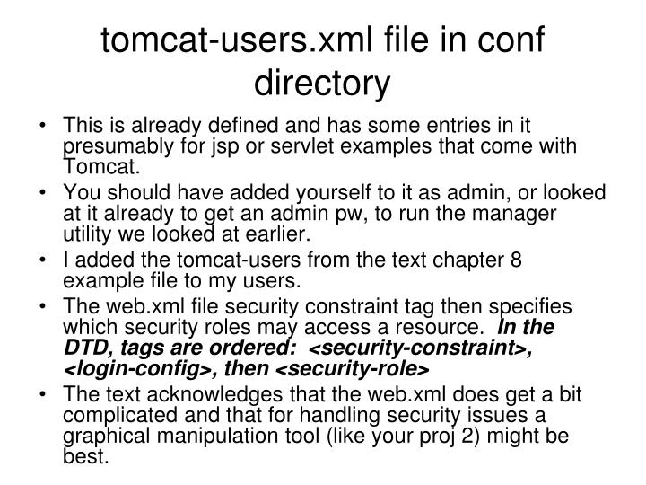 tomcat-users.xml file in conf directory
