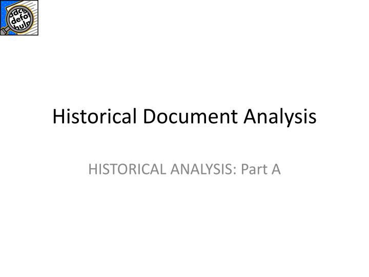 Historical Document Analysis