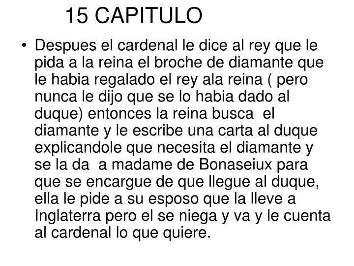 15 CAPITULO