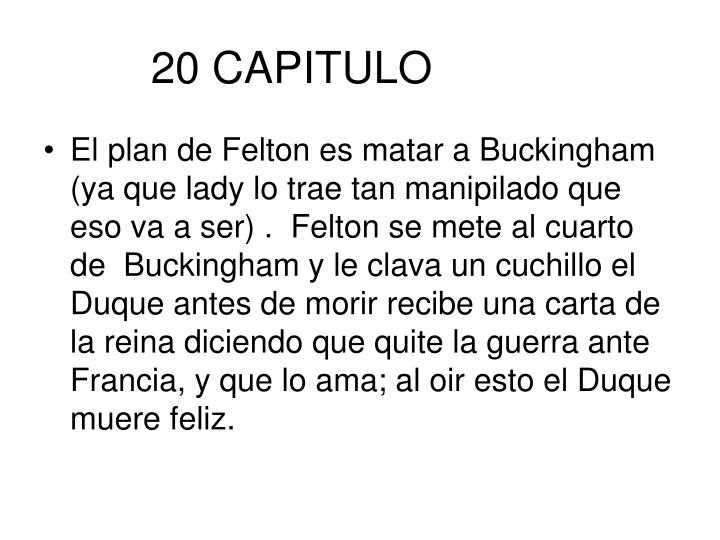 20 CAPITULO