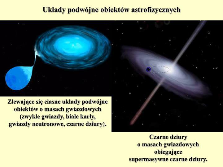 Układy podwójne obiektów astrofizycznych