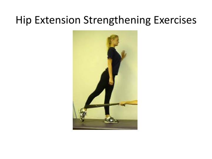 Hip Extension Strengthening Exercises