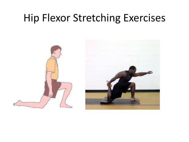 Hip flexor stretching exercises