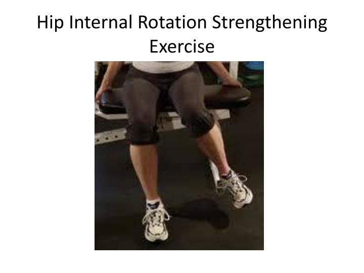 Hip Internal Rotation Strengthening Exercise
