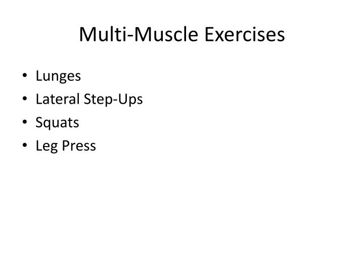 Multi-Muscle Exercises
