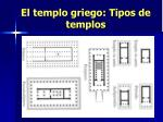 el templo griego tipos de templos