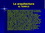 la arquitectura el templo