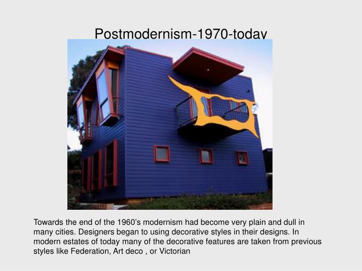Postmodernism-1970-today