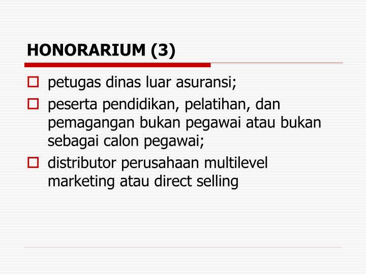 HONORARIUM (3)