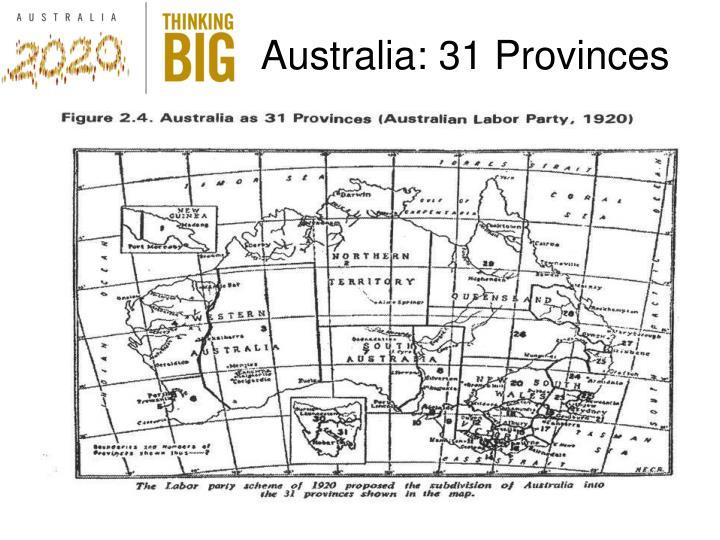Australia: 31 Provinces