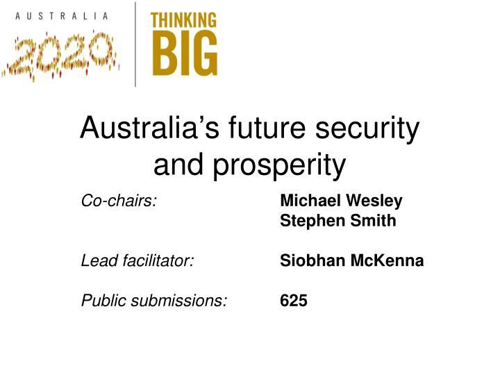 Australia's future security