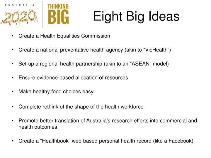 Eight Big Ideas