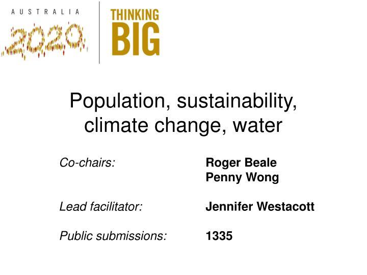 Population, sustainability,