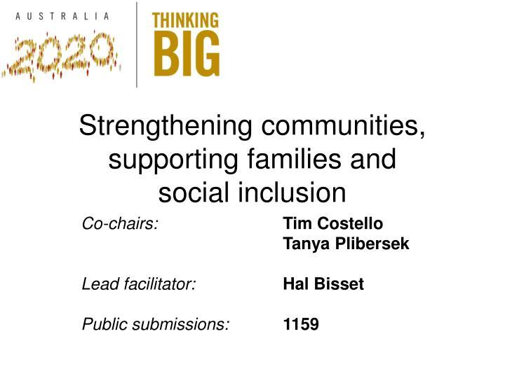 Strengthening communities,