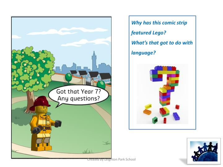 Why has this comic strip featured Lego?