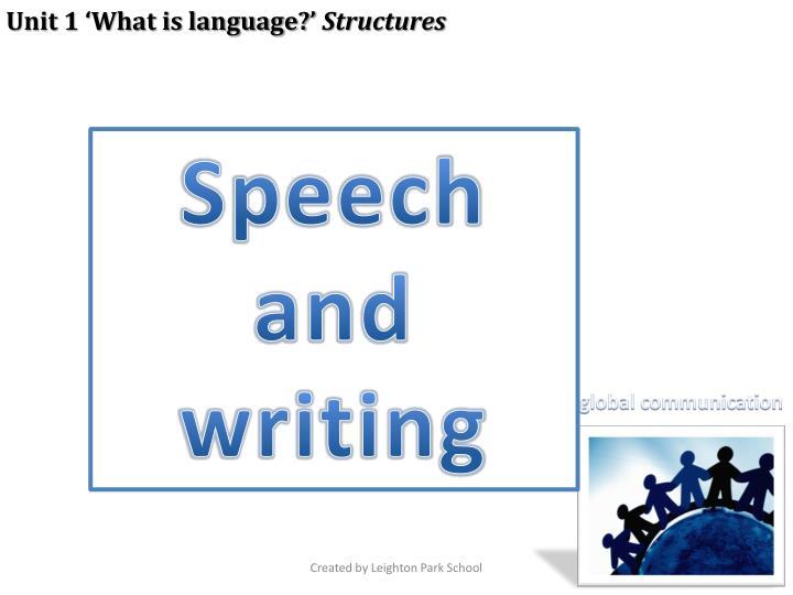 Unit 1 'What is language?'
