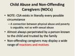child abuse and non offending caregivers nocs