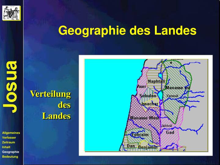 Geographie des Landes