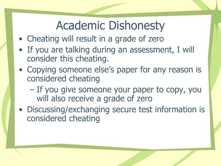 Academic Dishonesty