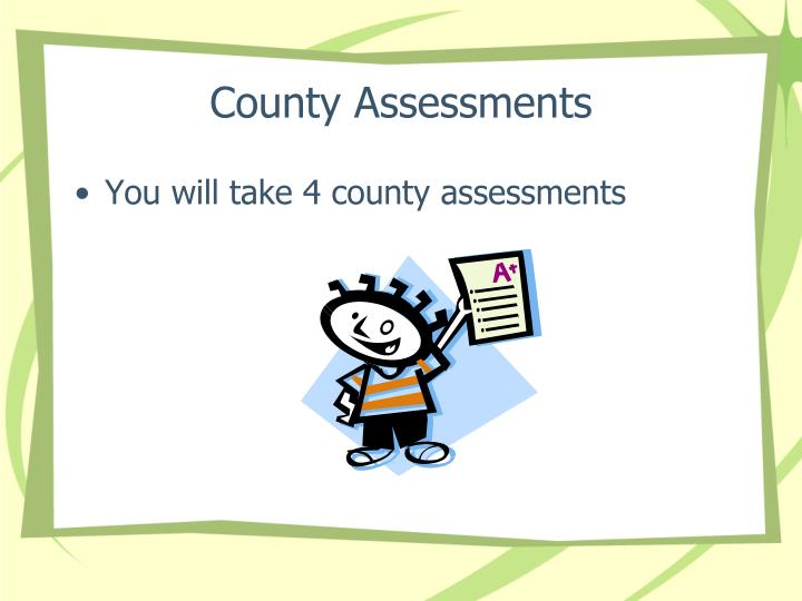 County Assessments