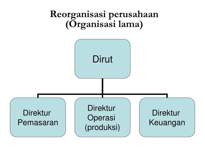 Reorganisasi perusahaan