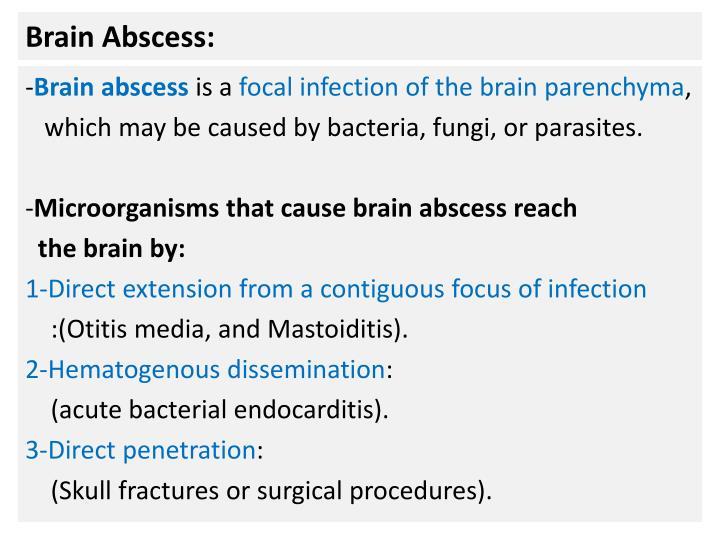 Brain Abscess: