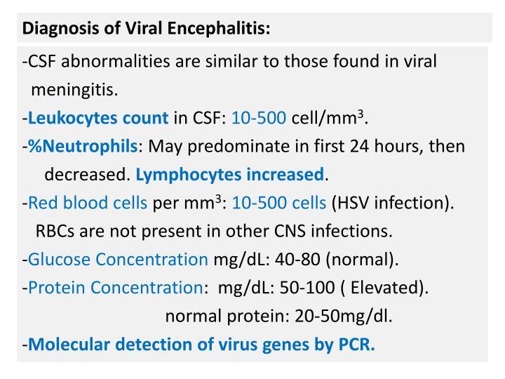 Diagnosis of Viral Encephalitis: