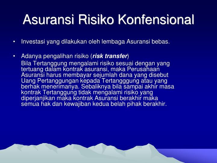 Asuransi Risiko Konfensional