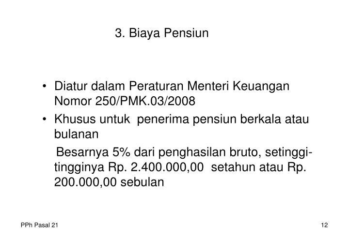 3. Biaya Pensiun