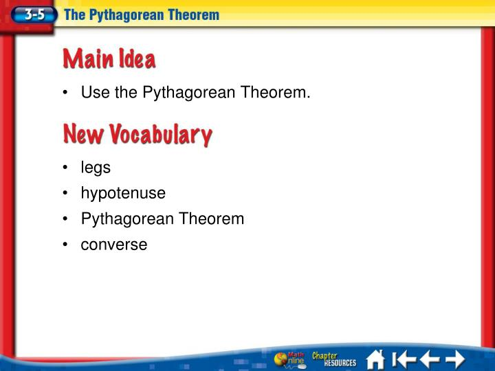 Use the Pythagorean Theorem.