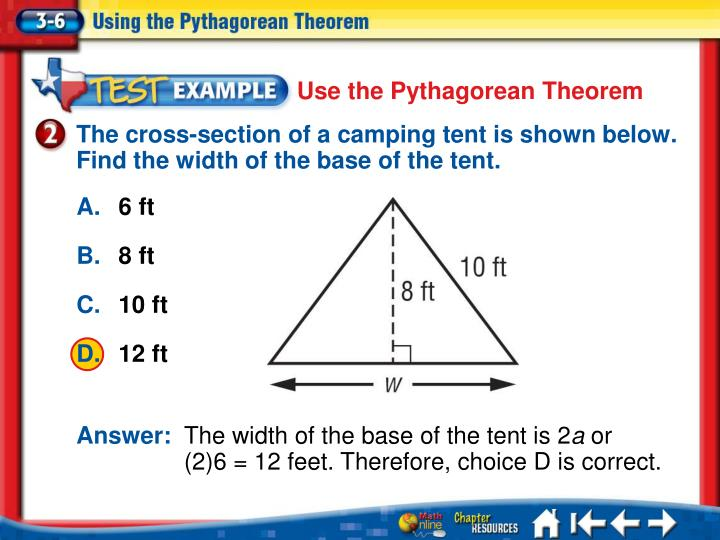Use the Pythagorean Theorem