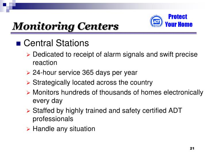 Monitoring Centers