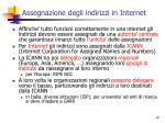 assegnazione degli indirizzi in internet