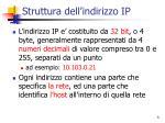struttura dell indirizzo ip