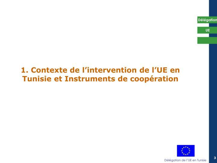 1 contexte de l intervention de l ue en tunisie et instruments de coop ration