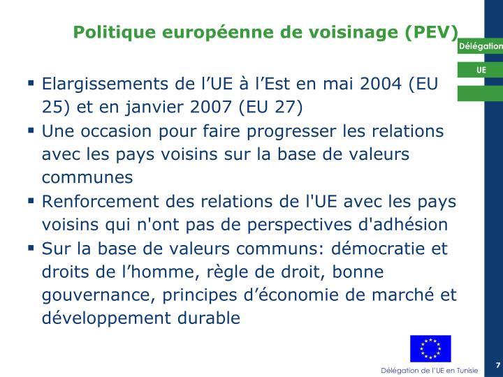 Elargissements de l'UE à l'Est en mai 2004 (EU 25) et en janvier 2007 (EU 27)