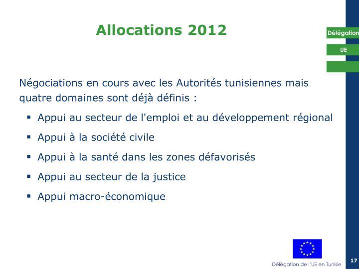 Négociations en cours avec les Autorités tunisiennes mais quatre domaines sont déjà définis :