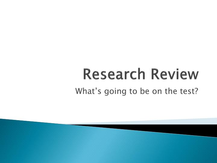 research review n.