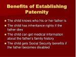 benefits of establishing paternity