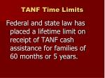 tanf time limits
