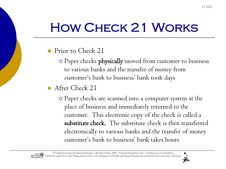 How Check 21 Works