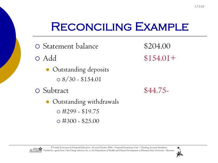 Reconciling Example