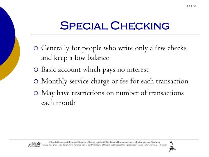 Special Checking
