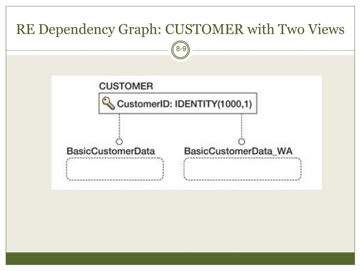 RE Dependency Graph: CUSTOMER with Two Views