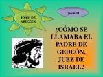 c mo se llamaba el padre de gede n juez de israel