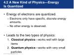 4 2 a new kind of physics energy is quantized
