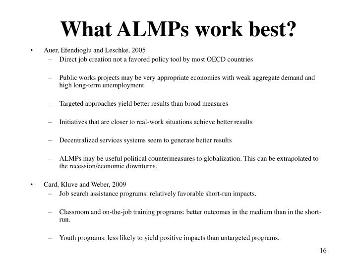 What ALMPs work best?