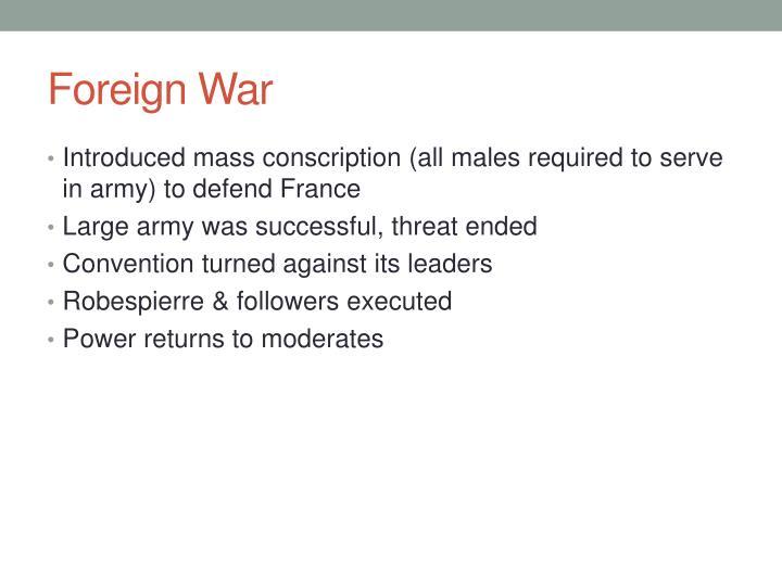 Foreign War