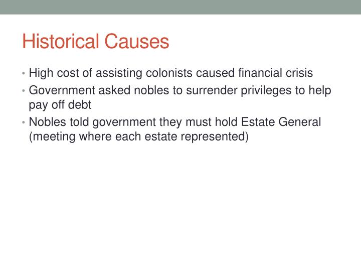 Historical Causes